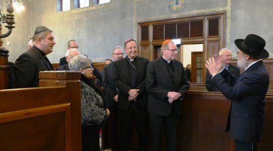 Kardinaal Eijk bezoekt synagoge Enschede