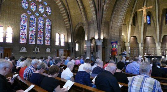 Startbijeenkomst vierde bisdombedevaart Lourdes