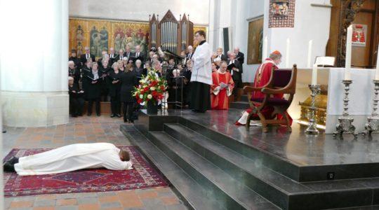 Gauthier de Bekker tot diaken gewijd